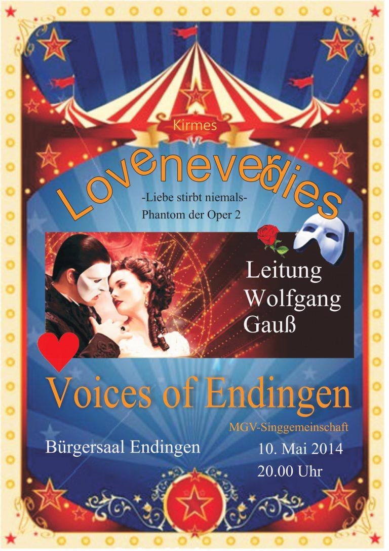 """""""Love never dies"""" - Liebe stirbt niemals - Phantom der Oper 2, 10. Mai 2014"""
