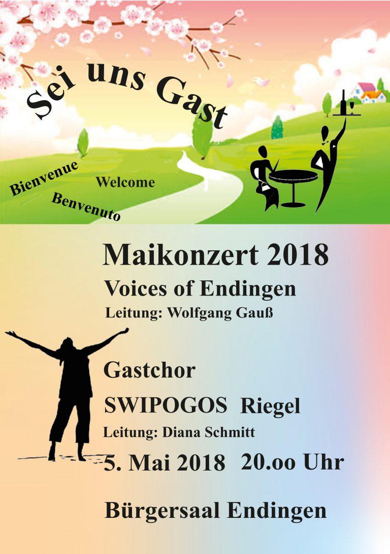 """""""Sei uns Gast"""" Maikonzert 2018, Gastchor: SWIPOGOS, Riegel, 05. Mai 2018"""