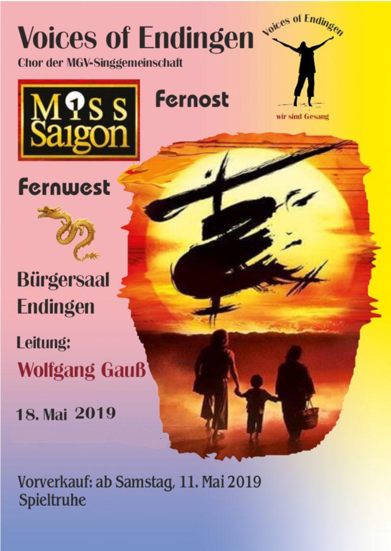 """Miss Saigon / Fernost – Fernwest"" am 18. Mai 2019"